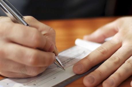 Выписка чека на получение денежных средств